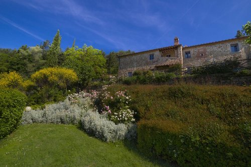medieval property in the hills with pool - Subbiano