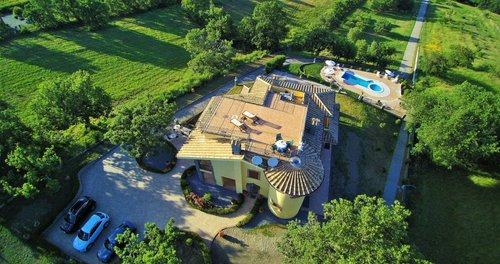 Villa on a hilltop with views on Bolsena lake - Montefiascone