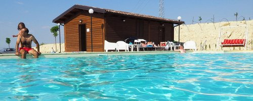 In the heart of Sicily bungalows, swimming pool and camper zones - Valguarnera Caropepe