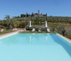 Farmhouse with swimming pool and wonderful view over San Gimignano - San Gimignano