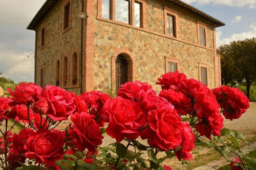 Stone farmhouse with panoramic views over the Umbrian countryside - Allerona