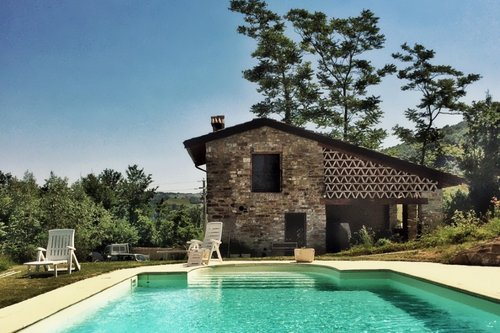 Beautiful stone farmhouse with swimming pool, horses and river - Tizzano Val Parma