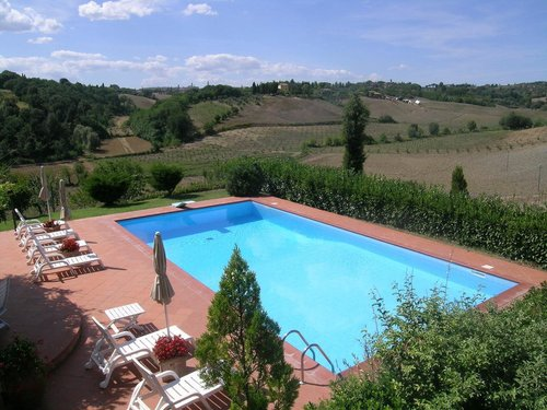 Farmhouse with swimming pool surrounded by the Sienese countryside - Siena