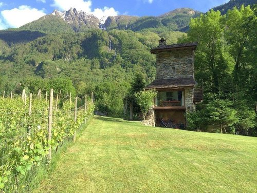 Scilano Tower, Chiavenna Tower and Barn in the Bio Vineyard - Piuro