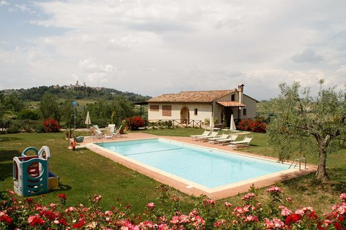 villa with pool in a panoramic position on San Gimignano - San Gimignano
